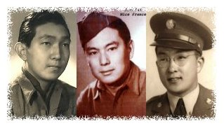(L to R) Wally Nunotani, Shig Doi, and Susumu Ito of the 442nd RCT
