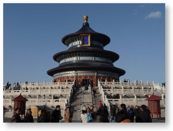 Inside the Temple of Heaven complex