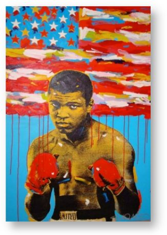 Portrait of Muhammad Ali by John Stango
