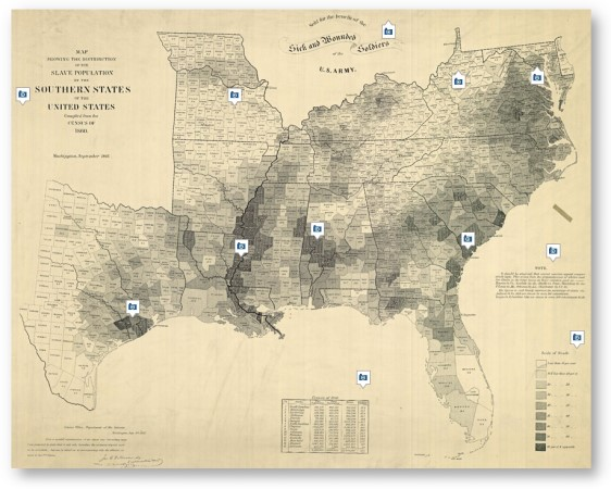 Map of American Slavery © Geography and Map Division, Library of Congress