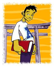 Cartoon of young Asian guy © Getty Images/Digital Vision