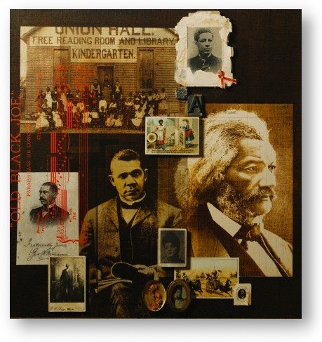 Black History collage © Fred Otnes, National Geographic Society, & Corbis