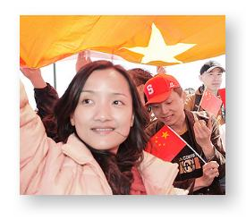 Chinese Americans supporting the Beijing Olympics © Eugene Gong