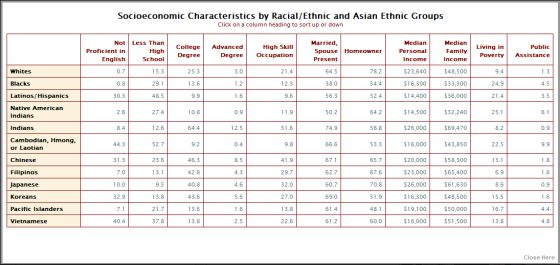 Socioeconomic Statistics & Demographics : Asian-Nation :: Asian ...