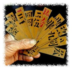 Traditional Chinese cards © Getty Images