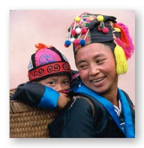 Hmong father and child © Frans Lemmens and Getty Images