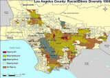Racial/Ethnic Majorities by City, Los Angeles County, 1990