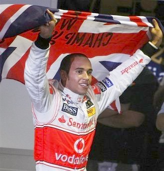 Lewis Hamilton of Great Britain becomes youngest and first Black F1 champion © Associated Press