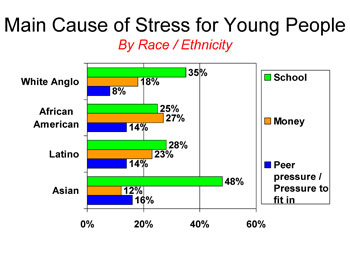 Sources of stress by respondent's race/ethnicity