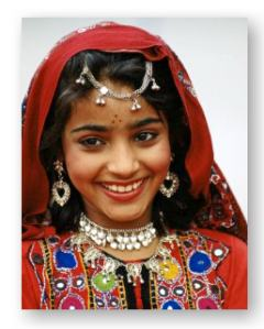 Pakistani American young woman in traditional attire ©  	 Tim Graham and Getty Images