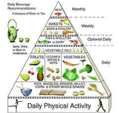 Traditional Asian diet pyramid © Oldways Preservation and Exchange Trust