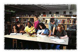 Students studying together � Corbis